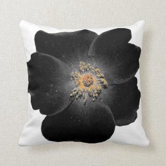 coussin fleur noire sierkussen