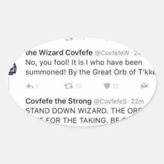 Covfefe Ovale Sticker