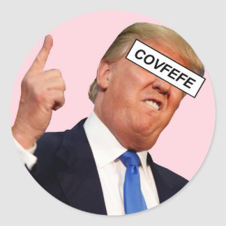 covfefe ronde sticker