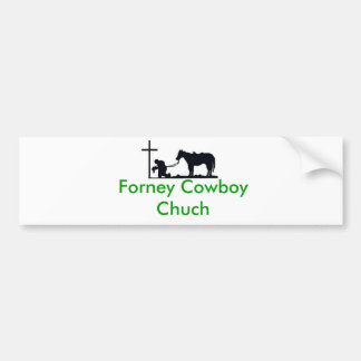 cowboy_and_cross, Forney Cowboy Chuch Bumpersticker