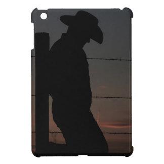 Cowboy bij zonsondergang iPad mini hoesjes