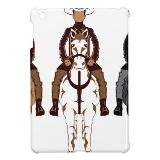 Cowboy - de voorzijde van het Paard Hoesjes Voor iPad Mini