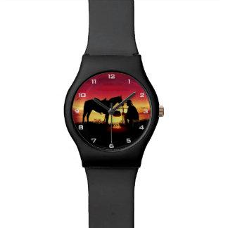 Cowboy en Paard bij het Horloge van de