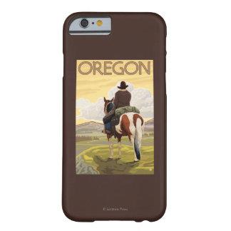 Cowboy op Horseback het Vintage Poster van de Reis Barely There iPhone 6 Hoesje