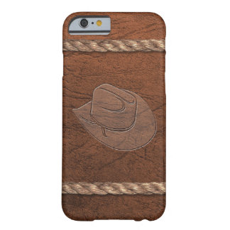 Cowboy/Pet, het Leer & de Kabel van de Barely There iPhone 6 Hoesje