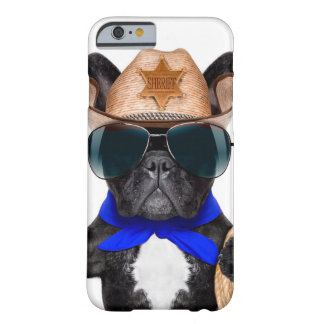 cowboy pug - hondcowboy barely there iPhone 6 hoesje