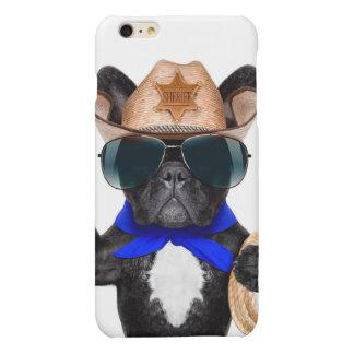 cowboy pug - hondcowboy matte iPhone 6 plus hoesje