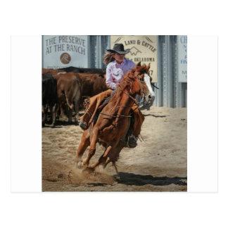 cowgir briefkaart