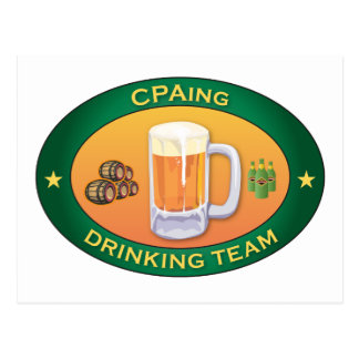CPAing die Team drink Briefkaart
