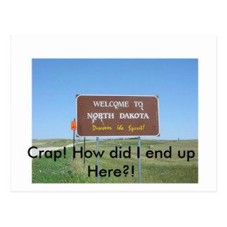 Crap! Briefkaart het Noord- van Dakota