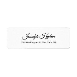 Creatieve Klassieke Witte Minimalistische Beroeps Etiket