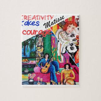 Creativiteit van het schilderen Matisse collage Puzzel