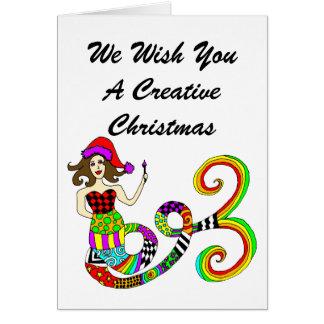 Creëer Creatieve Kerstmis van de Muse van de Briefkaarten 0