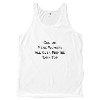 Creëer de Mannen Vrouwen van de Douane helemaal All-Over-Print Tank Top