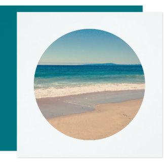 Creëer de Witte Grens van de Foto van de Cirkel 13,3x13,3 Vierkante Uitnodiging Kaart