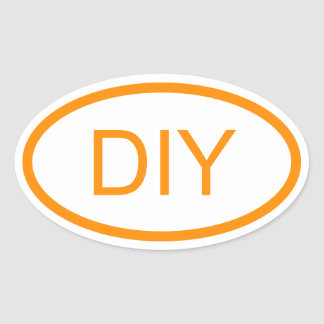 Creëer een Donkeroranje Euro Stijl Ovale Sticker