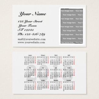 Creëer uw eigen de kalenderVisitekaartje van 2018 Visitekaartjes