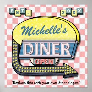 Creëer Uw Eigen Diner van de jaren '50 van de Poster