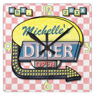 Creëer Uw Eigen Diner van de jaren '50 van de Vierkante Klok