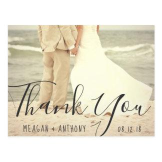 Creëer Uw Eigen Foto van het Huwelijk dank u Briefkaart