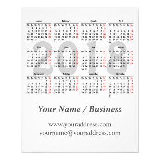 Creëer uw eigen kalender van 2018 folders