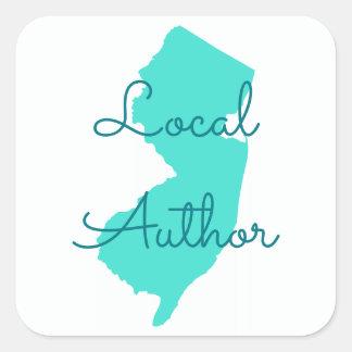 Creëer Uw Eigen Lokale Auteur van New Jersey Vierkante Sticker