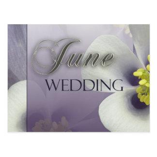 Creëer uw eigen paars Huwelijk van Juni Briefkaart