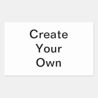 Creëer Uw Eigen Sticker van de Rechthoek
