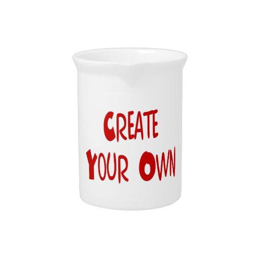 Creëer uw eigen waterkruik drank pitcher