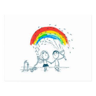 Creëerd Regenboog houd samen van Paar Briefkaart