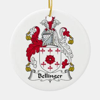 CREST van de Familie van Bellinger Rond Keramisch Ornament
