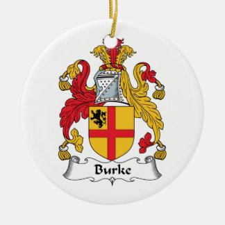 CREST van de Familie van Burke Rond Keramisch Ornament