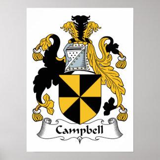 CREST van de Familie van Campbell Poster