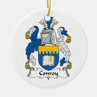 CREST van de Familie van Conroy Rond Keramisch Ornament