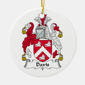 CREST van de Familie van Davis Rond Keramisch Ornament