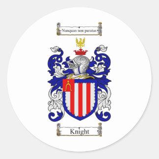 CREST VAN DE FAMILIE VAN DE RIDDER - HET WAPENSCHI RONDE STICKERS