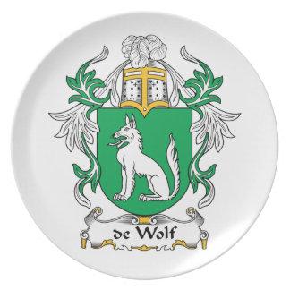CREST van de Familie van DE Wolf Melamine+bord