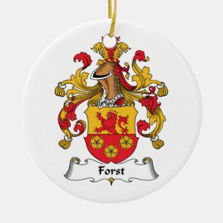 CREST van de Familie van Forst Rond Keramisch Ornament