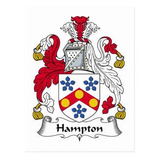 CREST van de Familie van Hampton Briefkaart