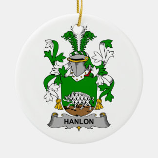 CREST van de Familie van Hanlon Rond Keramisch Ornament