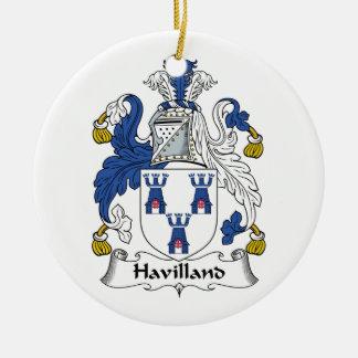 CREST van de Familie van Havilland Rond Keramisch Ornament