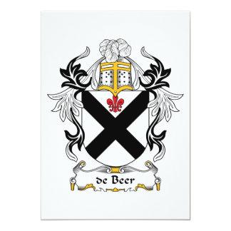CREST van de Familie van het bier 12,7x17,8 Uitnodiging Kaart