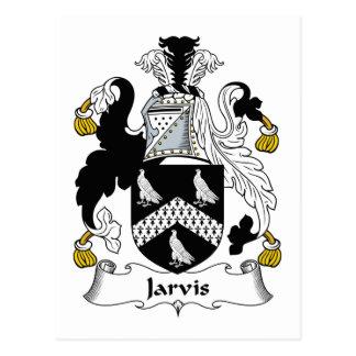 CREST van de Familie van Jarvis Briefkaart