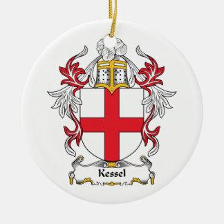 CREST van de Familie van Kessel Rond Keramisch Ornament