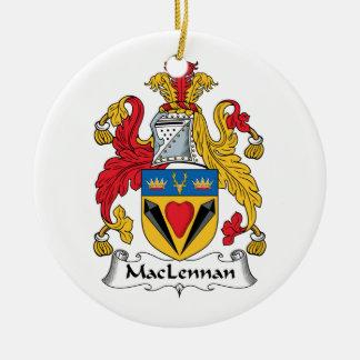 CREST van de Familie van MacLennan Rond Keramisch Ornament