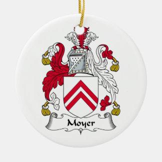 CREST van de Familie van Moyer Rond Keramisch Ornament
