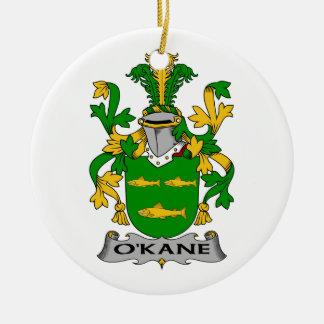 CREST van de Familie van O'Kane Rond Keramisch Ornament
