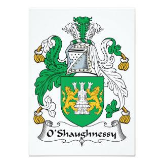 CREST van de Familie van O'Shaughnessy Kaart