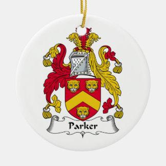 CREST van de Familie van Parker Rond Keramisch Ornament