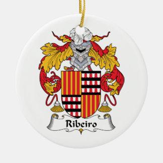 CREST van de Familie van Ribeiro Rond Keramisch Ornament
